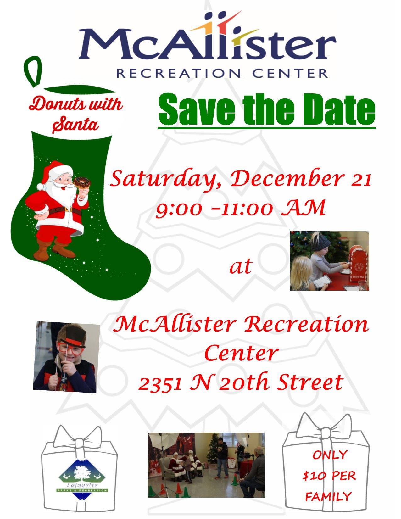 Donuts with Santa Save the Date