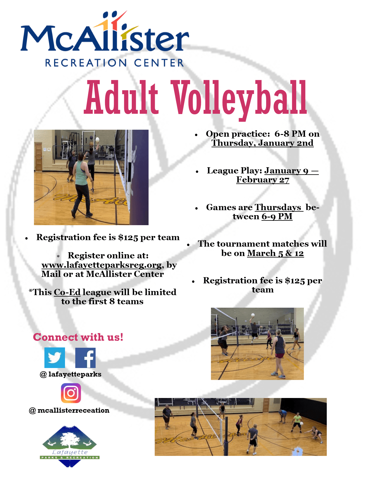 2020 Winter Adult Volleyball reg