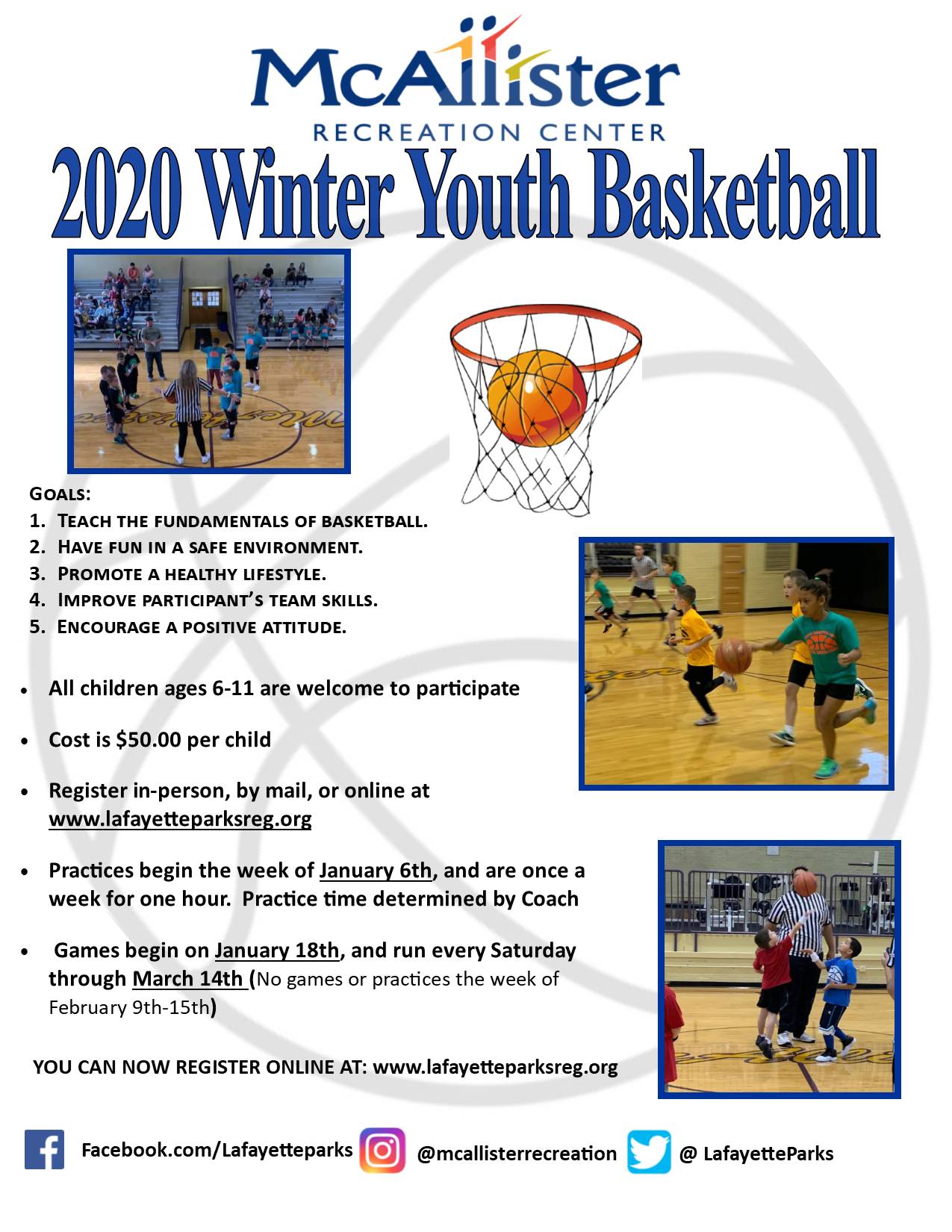 2020 Winter youth basketball