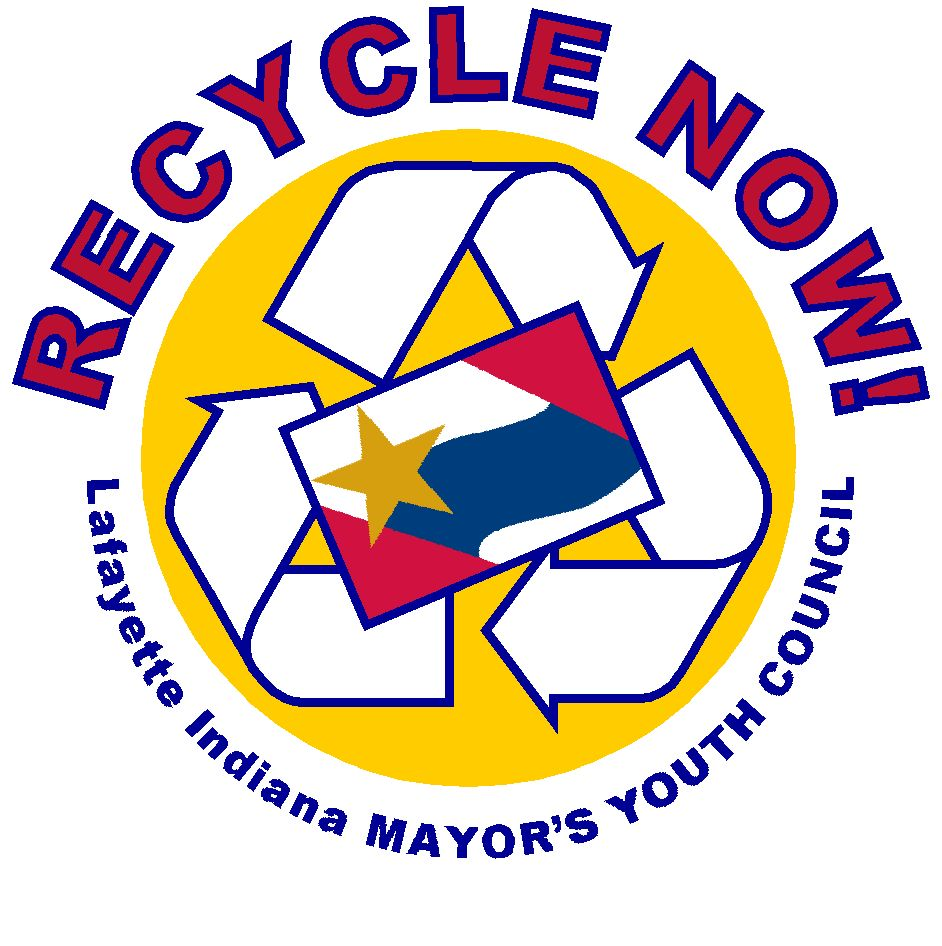 Recycle Now - Lafayette Indiana Mayor's Youth Council Logo