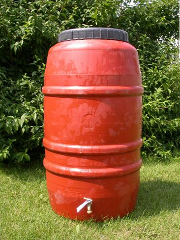 Red Rain Barrel