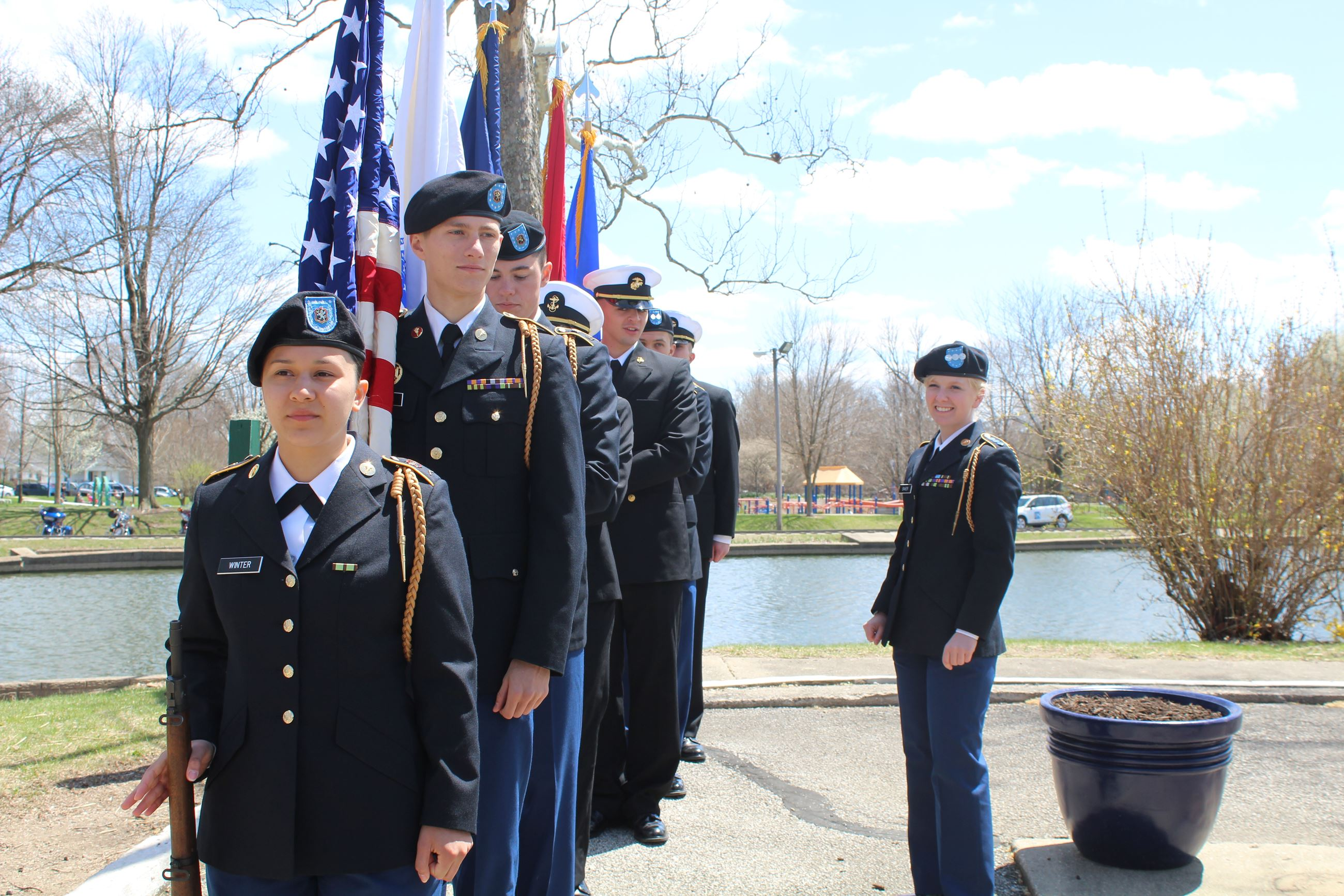Vietnam Veterans Welcome Home - Color Guard at Memorial Island
