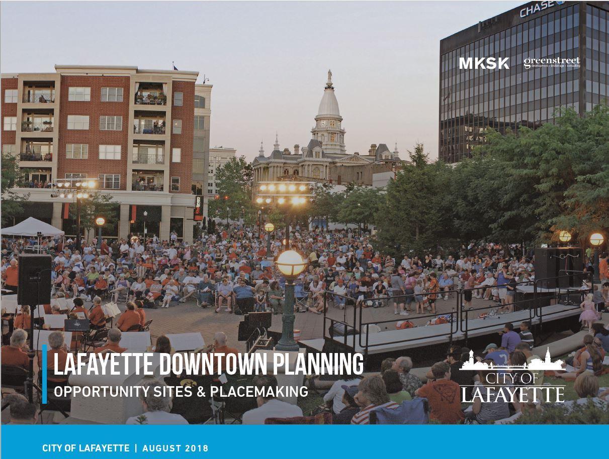 Lafayette Downtown Planning Report Cover Page Opens in new window